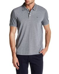 Original Penguin | Gray Short Sleeve Slim Fit Printed Polo for Men | Lyst
