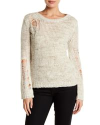 Pam & Gela - Natural Shredded Sweater - Lyst