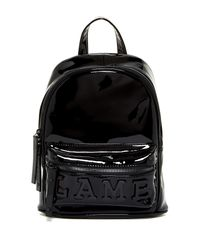 L.A.M.B. | Black Imen Patent Leather Backpack | Lyst