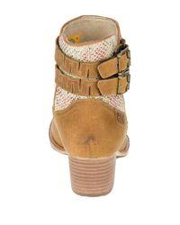 Caterpillar - Brown Willa Canvas Boot - Lyst