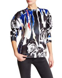 DKNY | Black Printed Pullover Sweater | Lyst