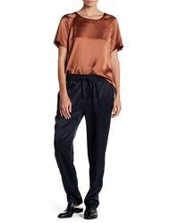 DKNY | Black Stripe Drawstring Pull On Pant | Lyst
