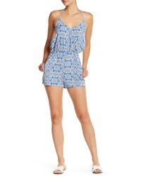 Mimi Chica | Blue Paisley Halter Romper | Lyst