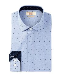 Original Penguin   Blue Pinpoint Slim Fit Tuxedo Shirt for Men   Lyst