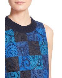 Sea - Blue Crochet Lace Crop Tank - Lyst