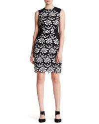 BCBGMAXAZRIA | Black Laurine Knit Evening Dress | Lyst