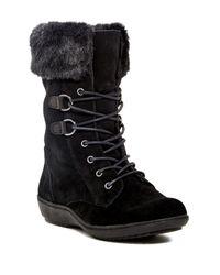 Aerosoles | Black Pinelands Faux Fur Trim Boot | Lyst
