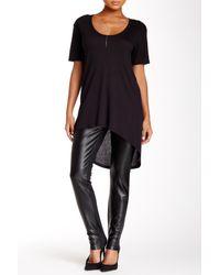 NYDJ | Black Faux Leather Front Legging (petite) | Lyst