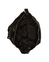Raj - Black Multi-strap Suede Drawstring Bag - Lyst