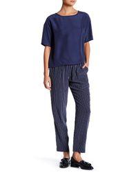 Equipment | Blue Hadley Silk Track Pant | Lyst