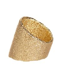 Karen Kane - Metallic Sandy Beach Band Ring - Size 6 - Lyst