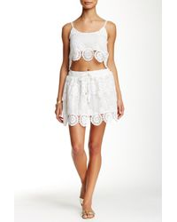 Raga | White Lovely Crochet Mini Skirt | Lyst