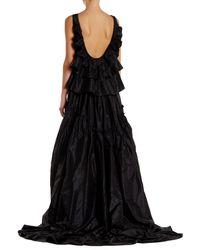 Oscar de la Renta - Black Sleeveless Embellished Silk Gown - Lyst