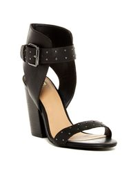Joe's Jeans | Black Vance Block Heeled Sandal | Lyst