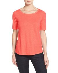 Eileen Fisher | Pink Hemp & Organic Cotton Top | Lyst