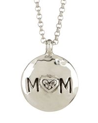 Lois Hill - Metallic Sterling Silver Reversible Signature Cutout Mom Pendant Necklace - Lyst