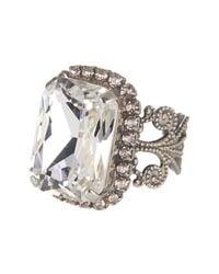 Sorrelli | Metallic Emerald Cut Crystal Filigree Ring | Lyst