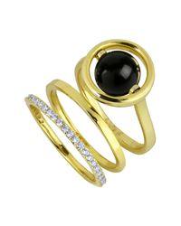 Noir Jewelry - Metallic Quasar 3-piece Ring Set - Lyst