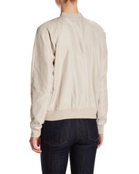 Romeo and Juliet Couture - Natural Woven Floral Embroidered Bomber Jacket - Lyst