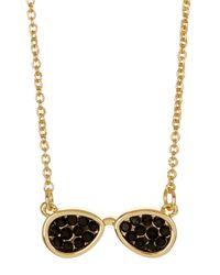 Ariella Collection - Black Aviator Necklace - Lyst