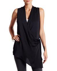Valette | Black Sleeveless Wrapover Tunic | Lyst
