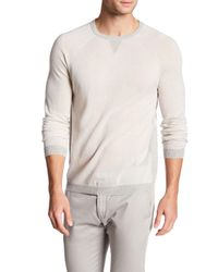 Autumn Cashmere | Multicolor Sporty Crew Neck Cashmere Raglan Shirt for Men | Lyst