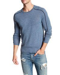 Autumn Cashmere | Blue Sporty Crew Neck Cashmere Shirt for Men | Lyst