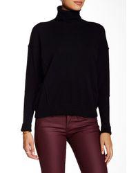 Autumn Cashmere - Black Boxy Turtleneck Cashmere Sweater - Lyst