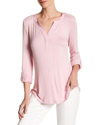 NYDJ | Pink Pleated Back Blouse | Lyst