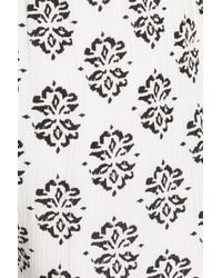 Splendid - White Medallion Print Short - Lyst