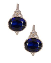 Judith Ripka | Multicolor Sterling Silver Micro Pave Framed Cushion Earrings | Lyst