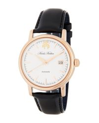 Brooks Brothers - Men's Black Fleece Collection Leather Strap Watch for Men - Lyst