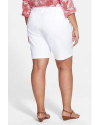 Sejour - White 'addison' Stretch Twill Bermuda Shorts - Lyst