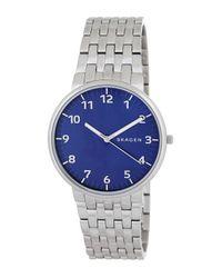 Skagen   Metallic Men's Ancher Bracelet Watch for Men   Lyst