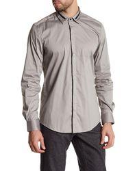 Antony Morato | Gray Long Sleeve Slim Fit Shirt for Men | Lyst