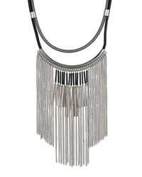 Steve Madden - Multicolor Fringe Bib Necklace - Lyst