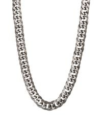 Steve Madden | Metallic Thick Curb Chain Necklace | Lyst