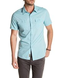 7 For All Mankind | Blue Classic Fit Solid Shirt for Men | Lyst