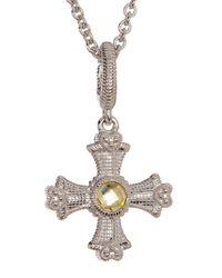 Judith Ripka | Multicolor Sterling Silver Maltese Cross Necklace | Lyst