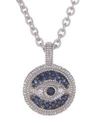 Judith Ripka | Multicolor Sterling Silver Evil Eye Sapphire Pendant Necklace | Lyst