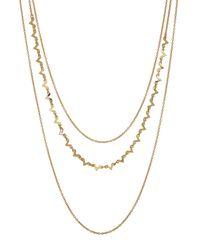 Gorjana - Metallic V 3-layer Necklace - Lyst