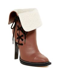 Gx By Gwen Stefani | Brown Tribe Cap Toe Faux Fur Cuff Bootie | Lyst