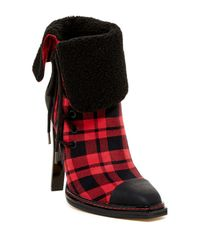 Gx By Gwen Stefani - Red Tribe Cap Toe Faux Fur Cuff Bootie - Lyst