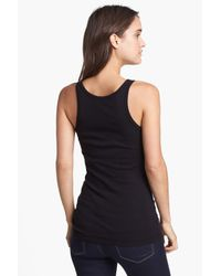 Splendid - Black Ribbed Tank - Lyst