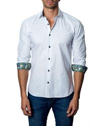 Jared Lang - White Long Sleeve Woven Modern Fit Shirt for Men - Lyst
