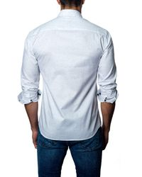 Jared Lang - White Long Sleeve Woven Modern Fit Shirt for Men - Lyst