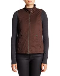 Jolt - Brown Faux Fur Lined Vest - Lyst