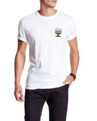 ourCaste | White Checks Short Sleeve Logo Tee for Men | Lyst