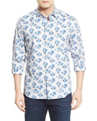 Tommy Bahama | Blue Matisse Madness Island Modern Fit Floral Print Sport Shirt for Men | Lyst