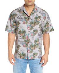Tommy Bahama | Black Mapa Valley Original Fit Silk Camp Shirt for Men | Lyst